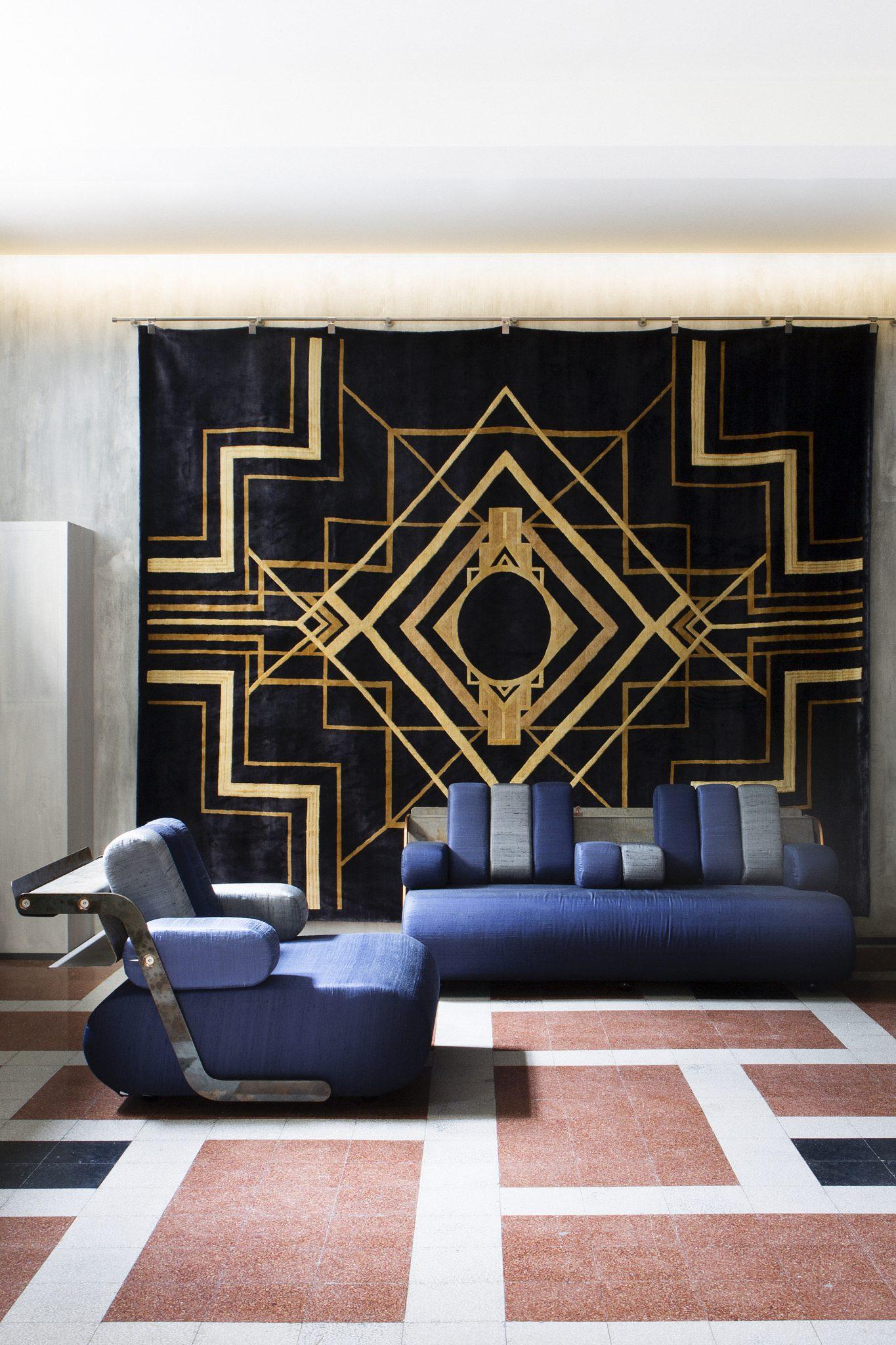 Uno dei tappeti di TED Milano: The Great Gatsby